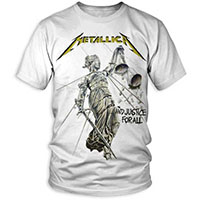 Metallica- And Justice For All (Full Statue) on a white shirt