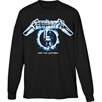Metallica- Ride The Lightning on a black long sleeve shirt
