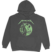 Metallica- And Justice For All on a charcoal hooded sweatshirt