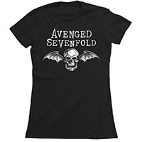 Avenged Sevenfold- Death Bat on a black girls fitted shirt