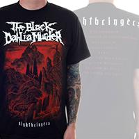 Black Dahlia Murder- Nightbringers on front & back on a black shirt