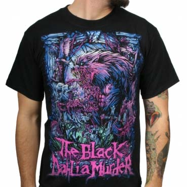 Black Dahlia Murder- Wolfman on a black shirt