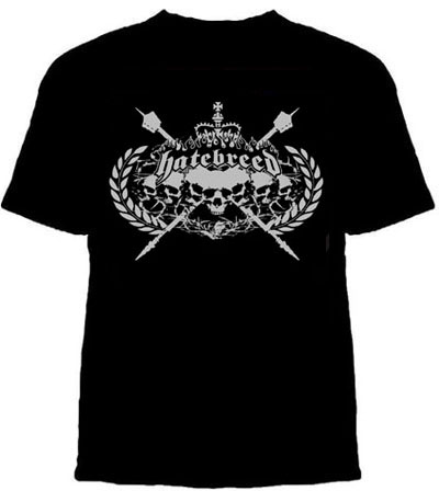 Hatebreed- Skull Crest on a black shirt (Sale price!)