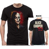 Alice Cooper- Trash on front & back on a black shirt