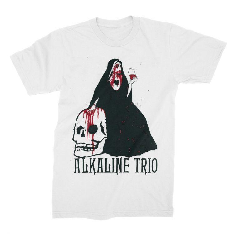 Alkaline Trio- Nun on a white shirt