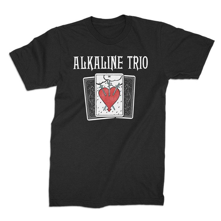 Alkaline Trio- Tarot Cards on a black ringspun cotton shirt