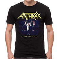 Anthrax- Among The Living on a black shirt