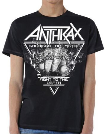 Anthrax- Soldiers Of Metal on a black shirt