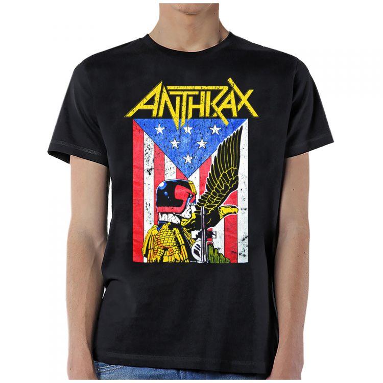 Anthrax- Dredd Eagle on a black shirt