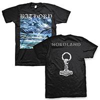 Bathory- Nordland on front & back on a black shirt