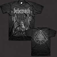 Behemoth- Corpse Candle on front & back on a black ringspun cotton shirt