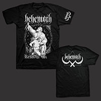 Behemoth- Reset on front, Logo on sleeve and on back on a black shirt