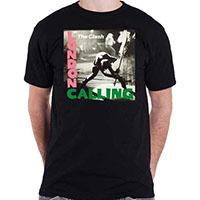 Clash- London Calling on a black shirt