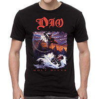 Dio- Holy Diver on a black shirt