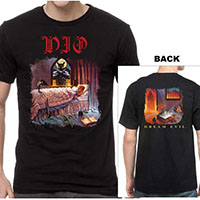 Dio- Dream Evil on front & back on a black shirt