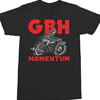 GBH- Momentum on a black shirt