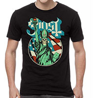 Ghost- Statue Of Liberty on a black shirt