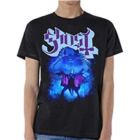 Ghost- Papa Cape on a black shirt
