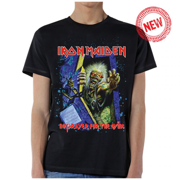 Iron Maiden- No Prayer For The Dying on a black shirt