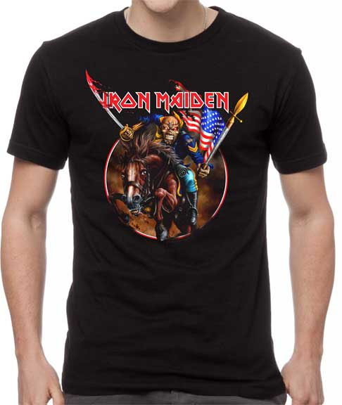 Iron Maiden- Custer on a black shirt (Sale price!)