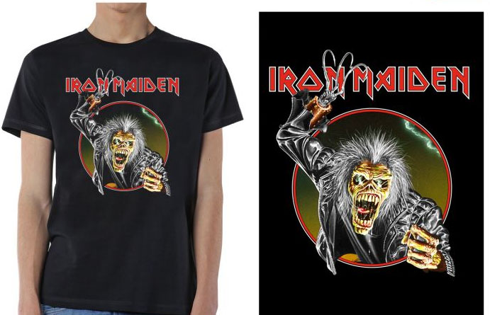Iron Maiden- Eddie Hook on a black shirt