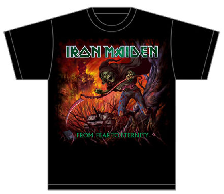 Iron Maiden- From Fear To Eternity on a black shirt (Sale price!)