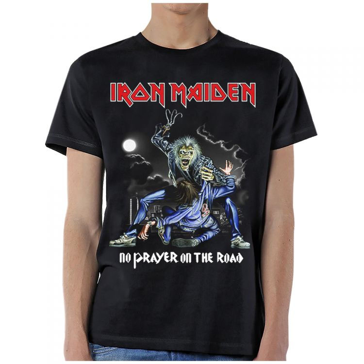 Iron Maiden- No Prayer On The Road on a black shirt (Sale price!)