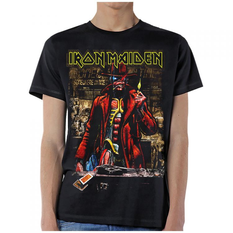 Iron Maiden- Somewhere In Time Stranger Sepia Pic on a black shirt