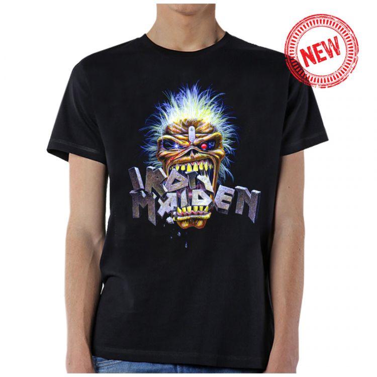 Iron Maiden- Eddie Crunch on a black shirt (Sale price!)