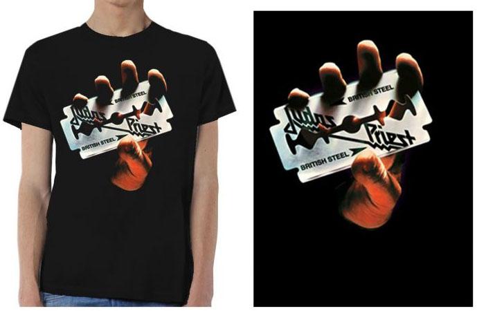 Judas Priest- British Steel on a black shirt