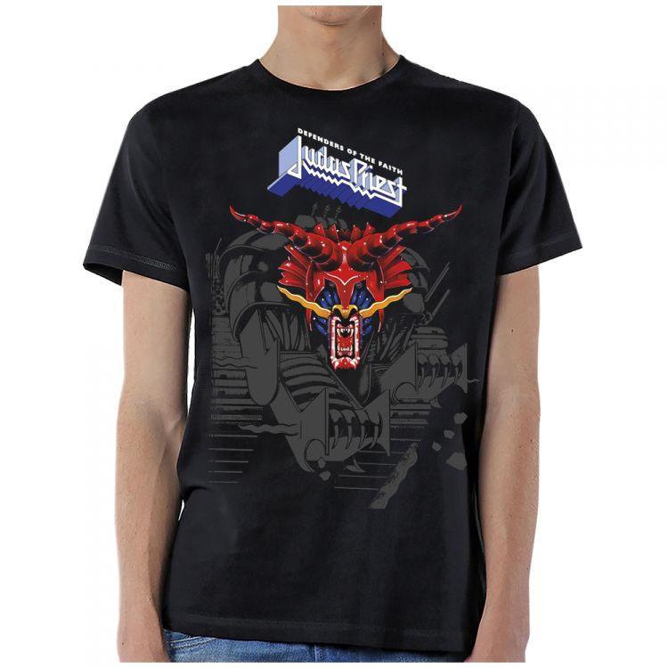 Judas Priest- Defenders Of The Faith on a black shirt