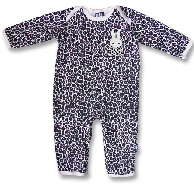 Pink Leopard Bodysuit by Six Bunnies (S:0-3m, M:3-6m, L:6-12m) - SALE
