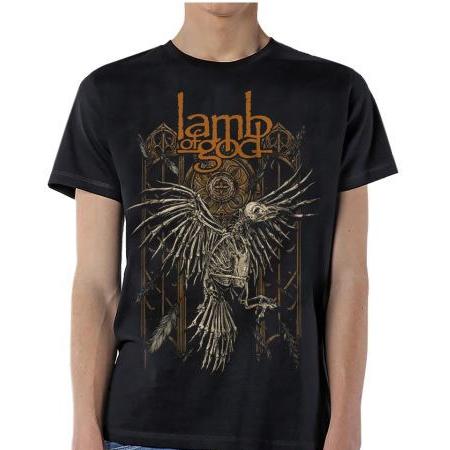 Lamb Of God- Crow on a black shirt