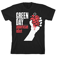 Green Day- American Idiot on a black shirt