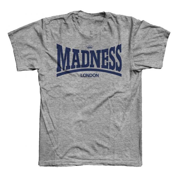 Madness- Lonsdale Logo on a grey shirt