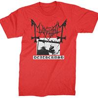 Mayhem- Deathcrush on a red shirt