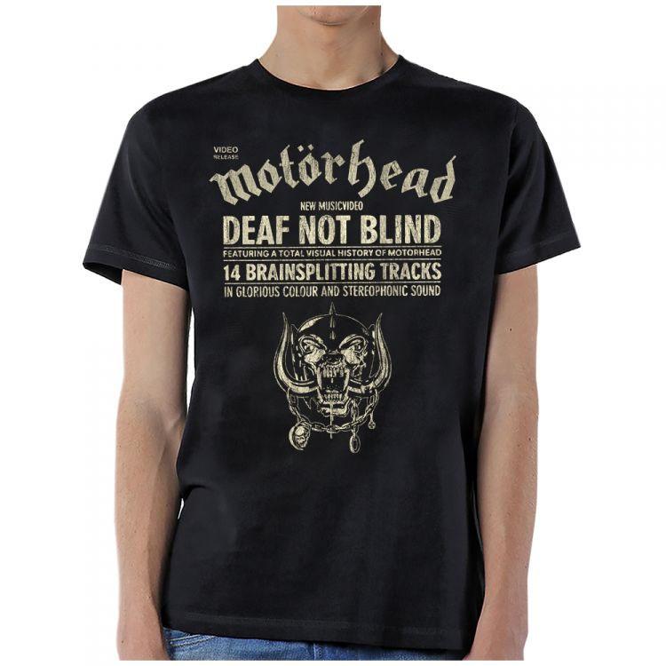 Motorhead- Deaf Not Blind on a black shirt
