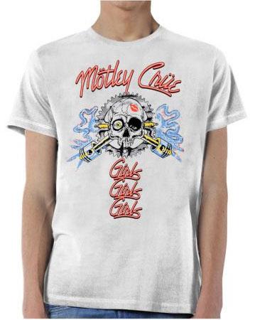 Motley Crue- Girls GIrls Girls on a white ringspun cotton shirt (Sale price!)