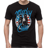 Motley Crue- Studs Circle Band Pic on a black shirt