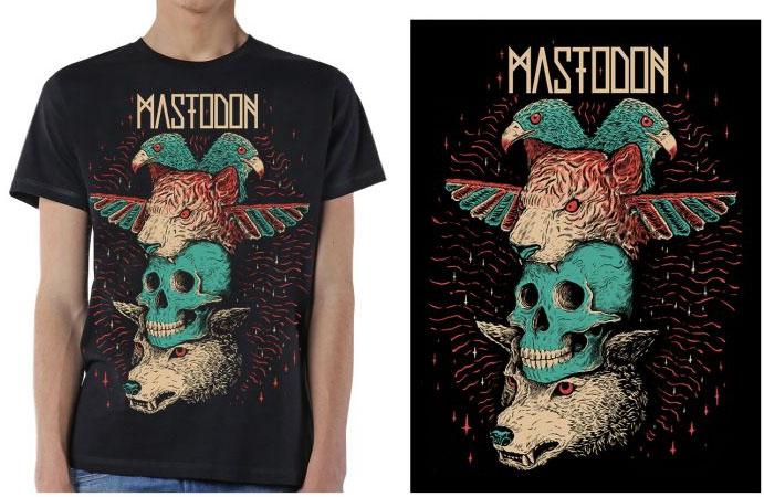 Mastodon- Totem on a black ringspun cotton shirt