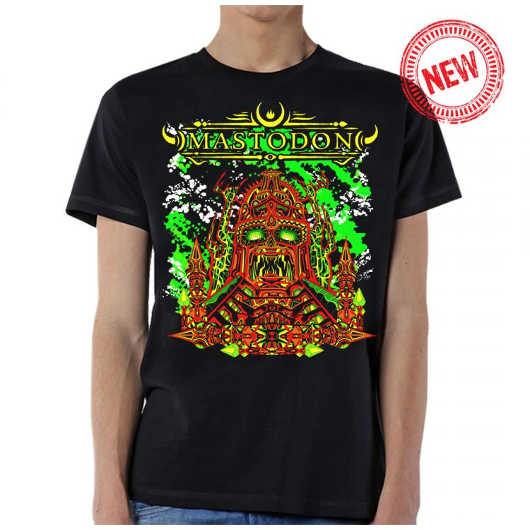 Mastodon- Emperor God Head on a black ringspun cotton shirt (Sale price!)