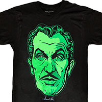 Vincent Price Classic Face in Ghoulish Green shirt by Kreepsville 666