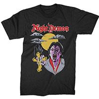 Night Demon- Fright Night on a black shirt