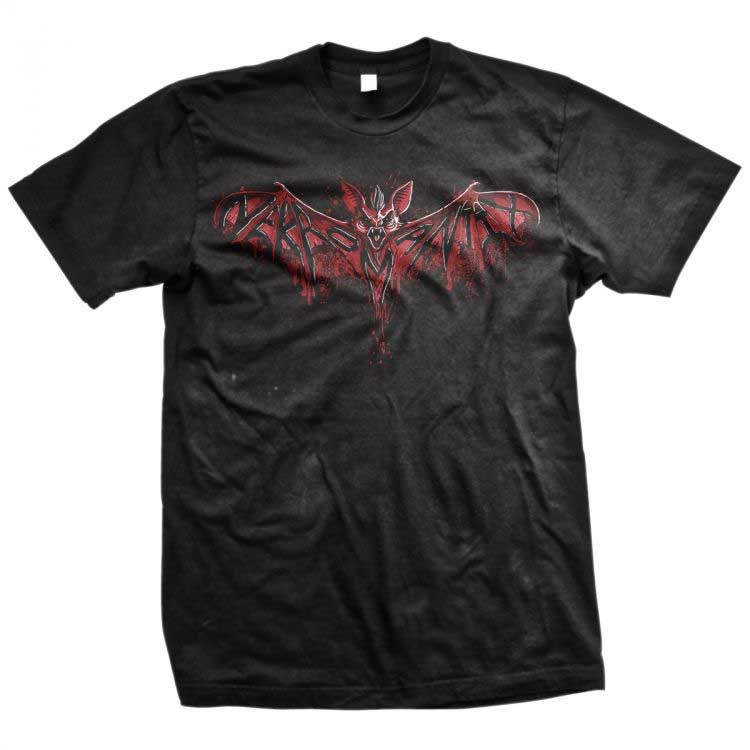 Nekromantix- Red Bat on a black ringspun cotton shirt