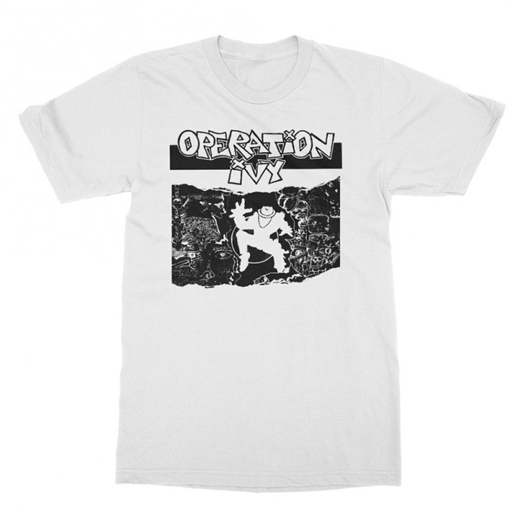 Operation Ivy- Energy on a white ringspun cotton shirt