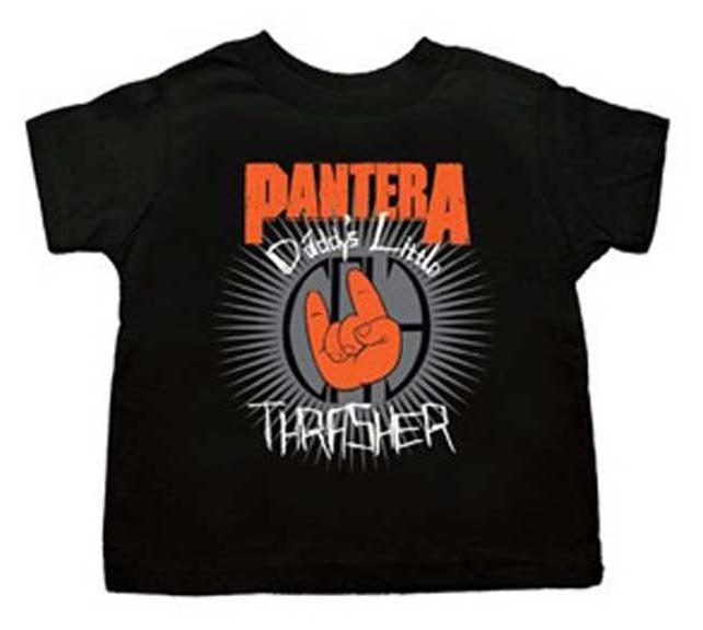 Pantera- Daddy's Little Thrasher on a black TODDLER shirt