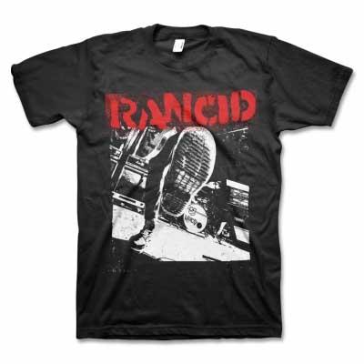 Rancid- Boot on a black shirt