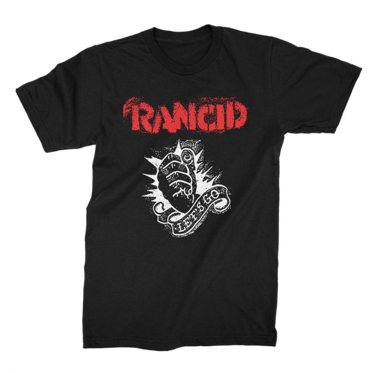 Rancid- Let's Go on a black shirt