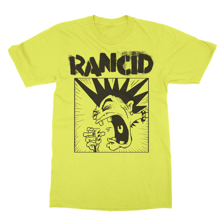 Rancid- Screaming Mohawk on a yellow shirt