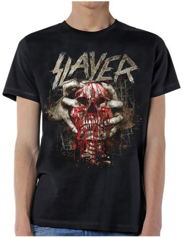 Slayer- Skull Clench on a black shirt (Sale price!)